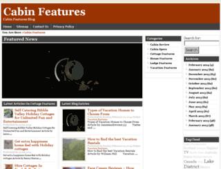 cabinfeatures.com screenshot