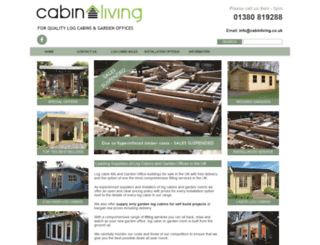 cabinliving.co.uk screenshot