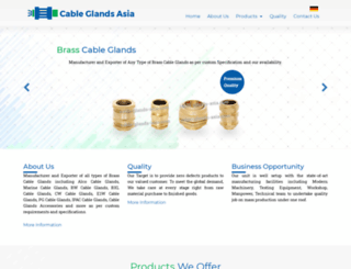 cable-glands-asia.com screenshot