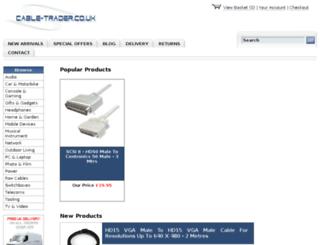 cable-trader.co.uk screenshot