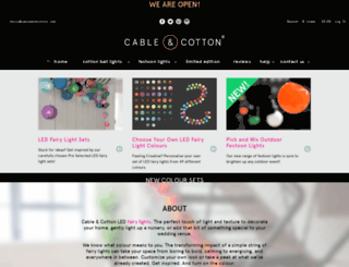 cableandcotton.co.uk screenshot