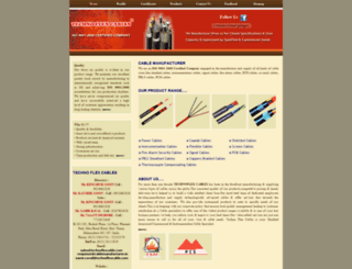 cablemanufacturer.in screenshot
