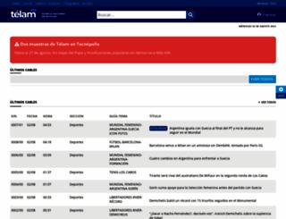 cablera.telam.com.ar screenshot