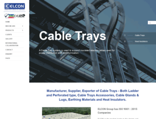 cabletraysupports.com screenshot
