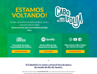 cabofolia.com.br screenshot