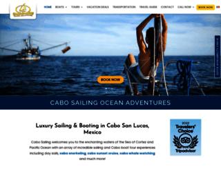 cabosailing.com screenshot