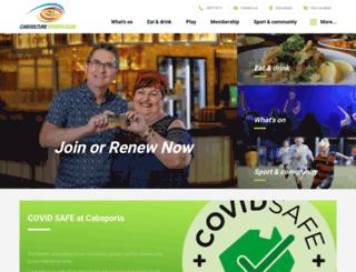 cabsports.com.au screenshot