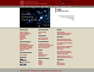 cac.cornell.edu screenshot