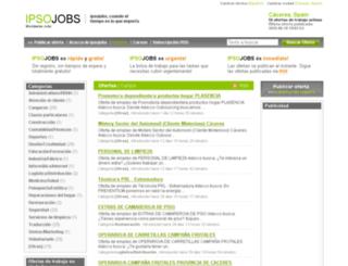 caceres.ipsojobs.com screenshot