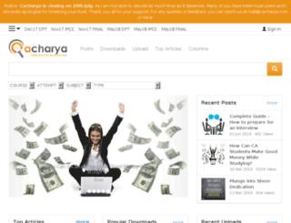 cacharya.com screenshot