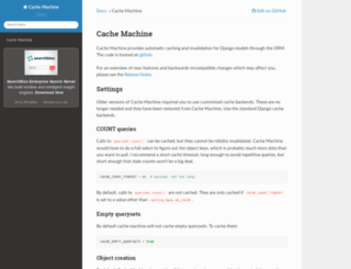 cache-machine.readthedocs.org screenshot