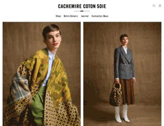 cachemirecotonsoie.com screenshot