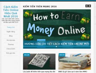 cachkiemtienonline.org screenshot