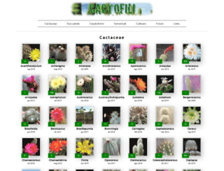 cactofili.org screenshot