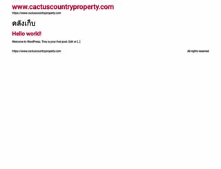 cactuscountryproperty.com screenshot