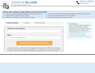 cadastre-en-ligne.org screenshot