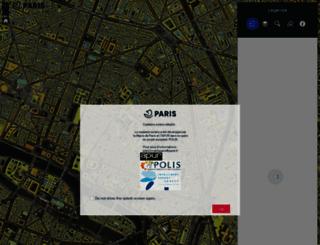 cadastresolaire.paris.fr screenshot