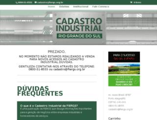 cadastroindustrialrs.com.br screenshot