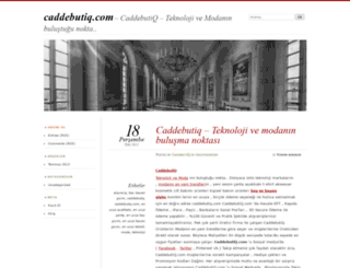 caddebutiq.wordpress.com screenshot