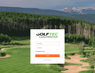 caddymaster.golftec.com screenshot