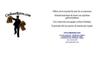 cadeauretro.com screenshot