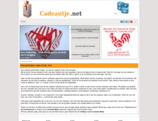 cadeautje.net screenshot