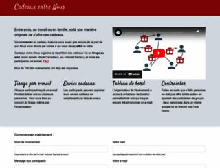 cadeaux-entre-nous.fr screenshot