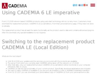 cademia.de screenshot
