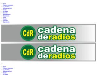 cadenaderadios.com.ar screenshot
