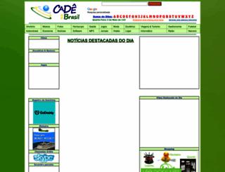 cadenobrasil.com screenshot