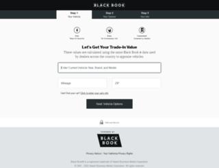 cadillac-blackbook-trade.intelliprice.com screenshot