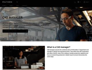 cadmanager.autodesk.co.uk screenshot