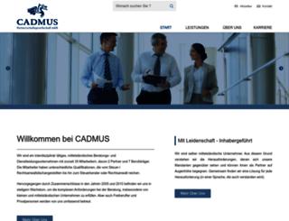 cadmus.de screenshot