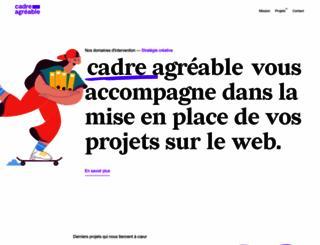 cadreagreable.fr screenshot