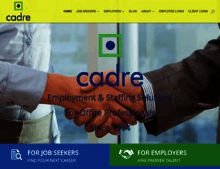 cadreservices.com screenshot