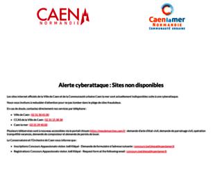 caen.fr screenshot