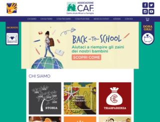 caf-onlus.org screenshot
