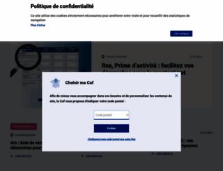caf.fr screenshot