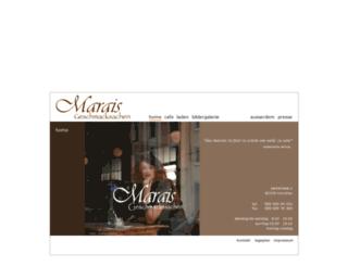 cafe-marais.de screenshot