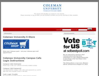 cafe.coleman.edu screenshot