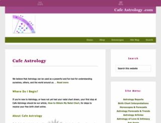 cafeastrology.com screenshot
