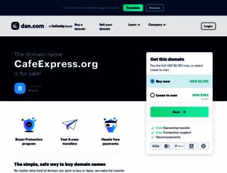 cafeexpress.org screenshot