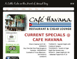cafehavana.co.za screenshot