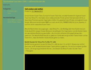 cafeneuhausen.de screenshot