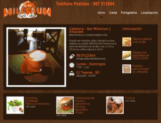 cafeteriamilenium.es screenshot