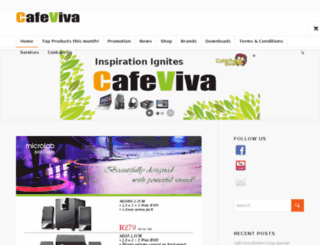 cafeviva.co.za screenshot