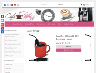 cafewhizz.com screenshot