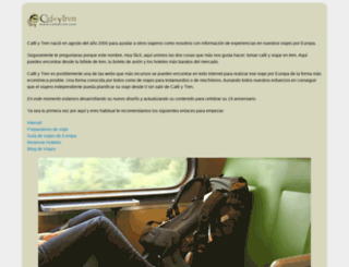 cafeytren.com screenshot