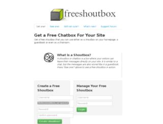 caffe1rotter.freeshoutbox.net screenshot