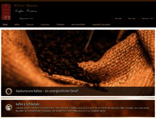 caffeeversand.de screenshot
